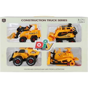 Skid Fusion Construction Truck Series 4Pcs
