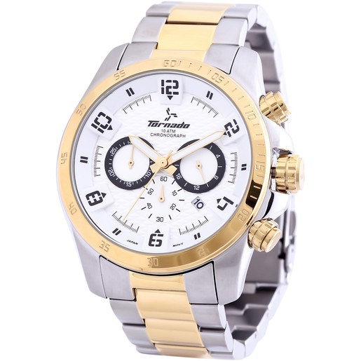 Tornado Men's Chronograph Watch White Dial T3149-TBTWB