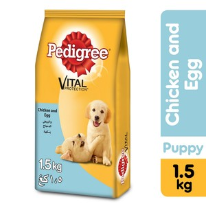 Pedigree Chicken & Eggs Dry Dog Food (Junior) 1.5kg
