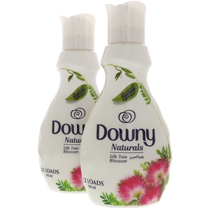 Downy Naturals Concentrate Fabric Softener Silky Tree Blossom Scent 2 x 880ml