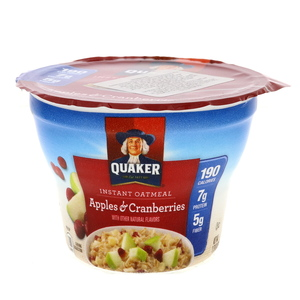 Quaker Instant Oatmeal Apples And Cranberries 51g