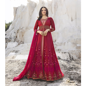 Semi Stitched Women's Gown Suit Vinay Kaseesh Supreme 8522