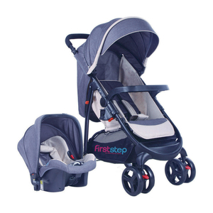 First Step Baby Stroller With Car Seat 6798ZY Grey