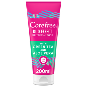 Carefree Daily Intimate Wash Duo Effect with Green Tea and Aloe Vera 200ml