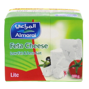 Almarai Feta Cheese Low Fat And Less Salt Lite 200g
