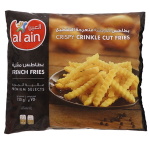 Al Ain French Fries Crinkle Cut 750g