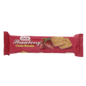 Lulu Cream Biscuits Strawberry 90g