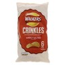 Walkers Crinkles  Simply Salted Potato Crisp 23g x 6pcs