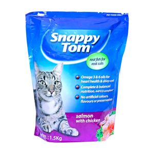 Snappy Tom Cat Food Salmon with Chicken 1.5kg