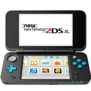 Nintendo 2DSXL Console Black and  Turquoise + 2 Games