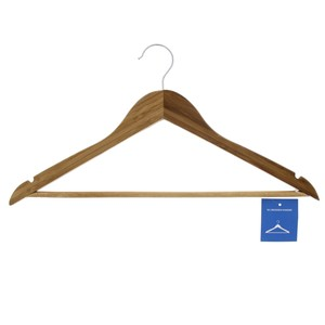 Straight Line Wooden Hanger 1pc