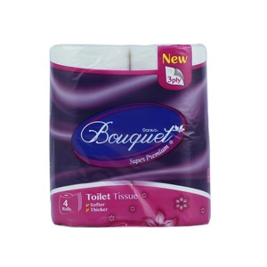 Sanita Bouquet Toilet tissue 3 ply x 4 rolls