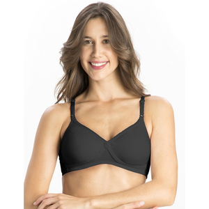 Jockey Women's Seamless Cross Over Bra 1721 Black 34C