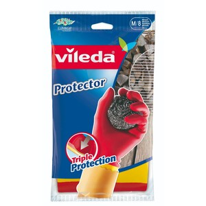 Vileda Gloves Protector, Medium Size 1 Pair