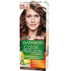 Garnier Color Natural Nudes Kit 6.132 Nude Light Brown Hair Color 1 Packet