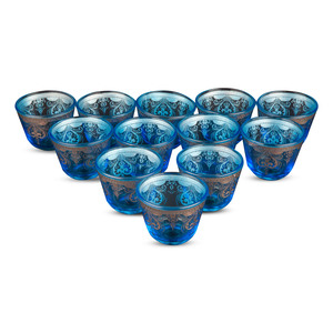 Pearl Noire Glass Decor Cawa Cup 12pcs Assorted Color