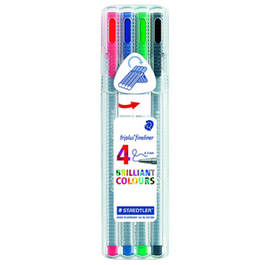 Staedtler Triplus Fineliner Colors 4Piece Packet