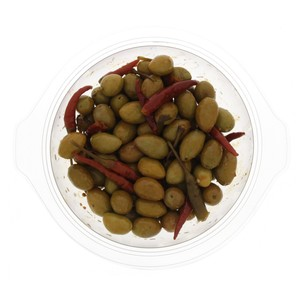 Moroccan Green Olives with Red Pepper 300g