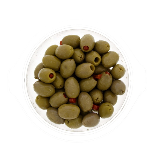 Greek Stuffed Olives With Red Pepper 300g