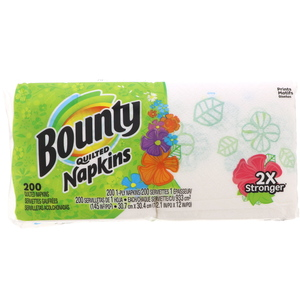 Bounty Quilted Napkins 200pcs