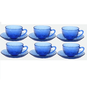 BBC Glass Cup & Saucer 12pcs GB2B
