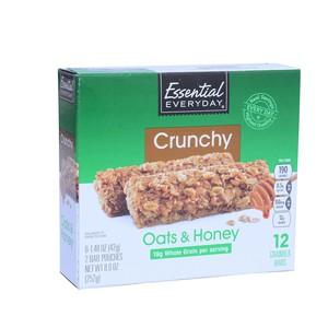 Essential Everyday Crunchy Oat&Honey Bar 252g