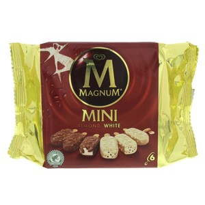 Magnum Mini Almond White Ice-cream 6pcs