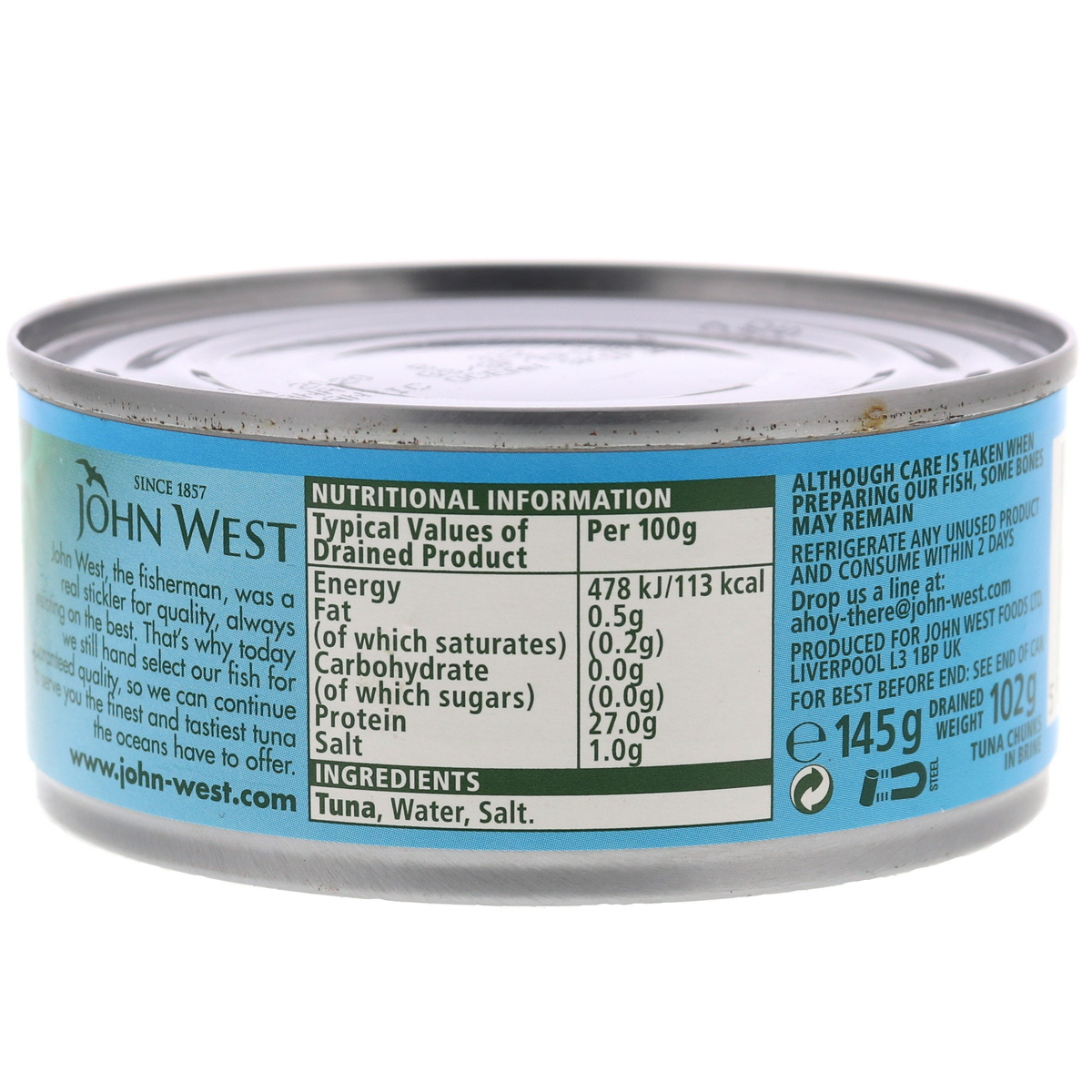 Buy John West Tuna Chunks in Brine 145g