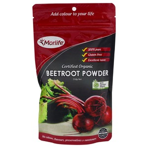 Morlife Certified Organic Beetroot Powder 150g
