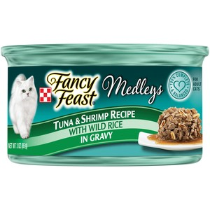 Purina Fancy Feast Medleys Tuna & Shrimp recipe Wet Cat Food 85 Gm