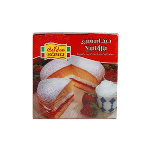 Sara Sponge Cake Filled with Strawberry Jam & Vanilla Creme 250g