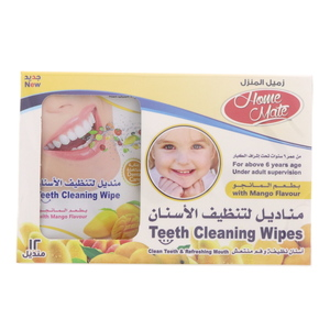 Home Mate Teeth Cleaning Wipes With Mango Flavour12Pcs