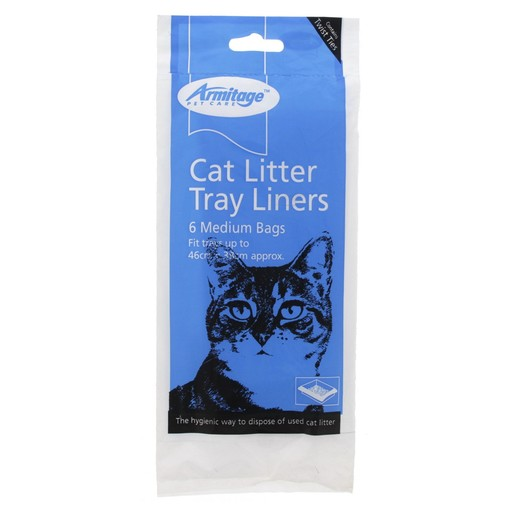 Armitage Cat Litter Tray Liners Medium Bags 6Pcs