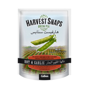 Harvest Snaps Green Pea Hot And Garlic 93g