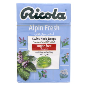Ricola Alpin Fresh Swiss Herb Drops Sugar Free 45g