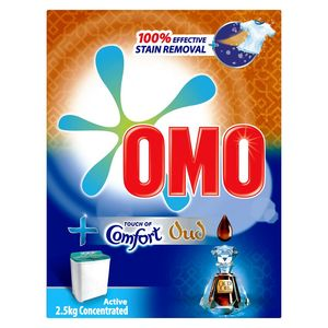 Omo Active Laundry Detergent Powder With Touch Of Comfort Oud 2.5kg