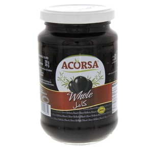 Acorsa Whole Black Olives 200g