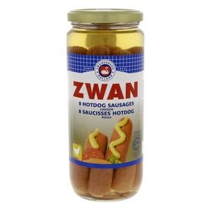 Zwan Chicken Hotdog Sausages 8pcs  520g