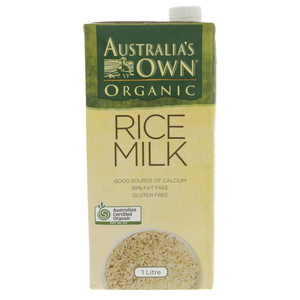 Australia's Own Organic Rice Milk 1Litre