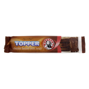 Bakers Topper Chocolate Flavoured Cream Biscuits 125g