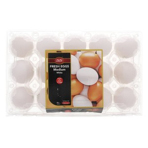 Lulu White Fresh Eggs Medium 15pcs