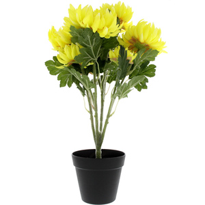 Home Style Artificial Flower With Pot CRAB Chrysanthemum