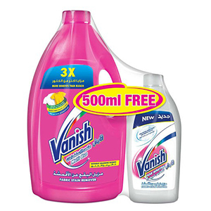 Vanish Stain Remover Liquid Colors 3Litre +500ml