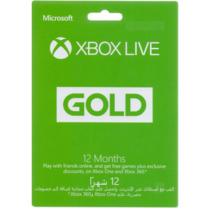 Xbox live Gold Membership Card 12 Months