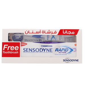 Sensodyne Rapid Action Tooth Paste 75ml + Tooth Brush